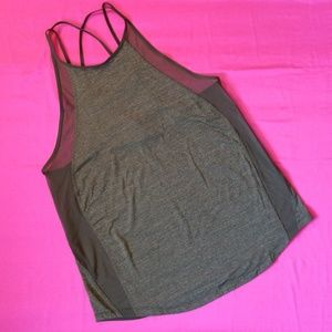 LULULEMON OLIVE GREEN MESH TANK TOP